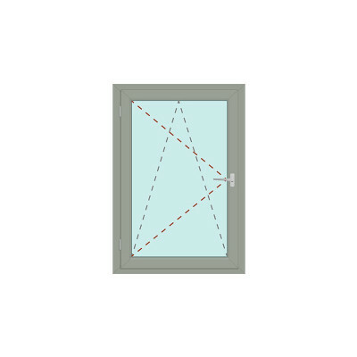 Kunststoff Fenster | IDEAL 4000  | 1-flg. | Dreh/Kipp | DIN links
